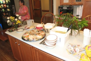 Judie's Table with Donations from the Hanoverville Roadhouse