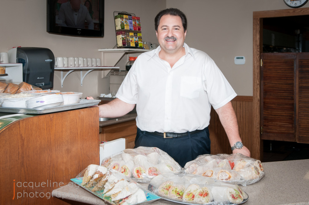 Chris Vallianatos, Owner of The Borderline Restaurant, Preparing Food Donation For the Hospice House