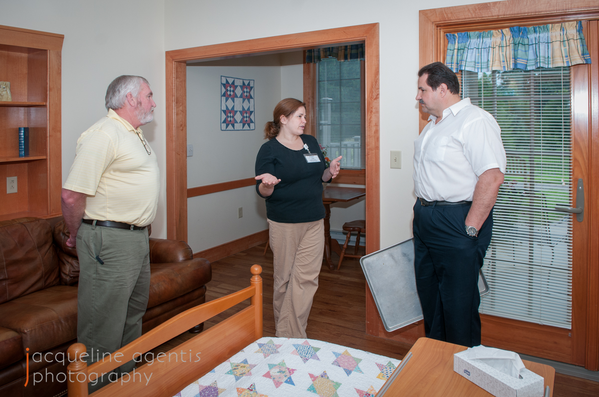 Chris Vallianatos and Tom Long visit the Rooms at Hospice House