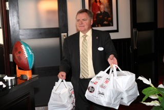Scott Craver and Bob Agentis delivering Shula's Donation to the Hospice House in Bethlehem on Black River Road