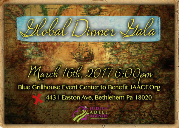 International Foods, Music, Fashion and more to benefit Judith Adele Agentis Charitable Foundation